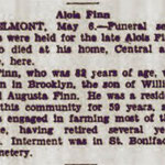 Long Island Daily Press - Obituary Alois Finn - May 6, 1931