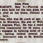 Long Island Daily Press - Obituary Alois Finn - May 6, 1931