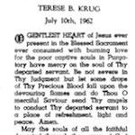 Krug, Terese B. - 1962