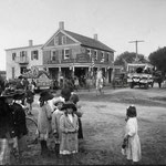 Herman's Hotel, Central Ave. and Elmont Rd, Elmont Young Farmers Light Guard Parade - 1913