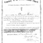 Stattel, Daniel - Cemetery Deed - St. Boniface