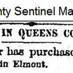 Queens County Sentinel  - Charles Goeller Puchased Land - March 3, 1883