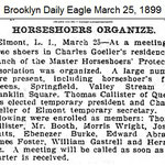 Brooklyn Daily Eagle - Horseshoers Organize - March 25, 1899