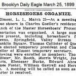 Brooklyn Daily Eagle - Horseshoers Organize - March 25, 1899