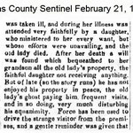 Queens County Sentinel - Fosters Meadow Ghost - Feb. 21, 1867