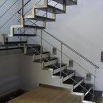 am Fertigung einer metalltreppe inkl. Montage in einem Autohaus