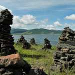 some manmade stone piles. They have no particular meaning except to attract some tourists :)
