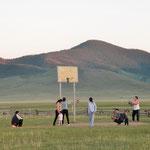 Recreational activities in the evening near Taikhar Chuluu
