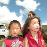 Shy kides near Jargalant, Northern Mongolia