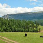a scenic drive over a high mountain pass to Terkhin Tsaagan Nuur lake