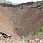 Some very brave men were hiking down the crater