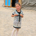 5 year old girl in the Southern Gobi