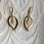 Anfertigung Brautohrhänger Silber rosévergoldet mit Perlen
