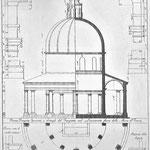 Progetto struttura tempio centrale Lazzaretto (Sanmicheli)