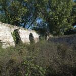 Muri lato Ovest ingresso originario Lazzaretto 2013
