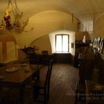 Sala da pranzo riservata ai domestici del castello di Thun (Tn)