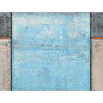 Arrangement, 30x71 cm, Öl auf Nessel, 2003