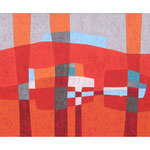 Bellevue I, 80x100 cm, Acryl,Papier,Leinwand, 2010