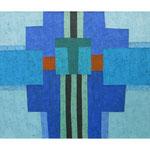 Lido di Venezia, 100x120 cm, Acryl,Papier,Leinwand, 2001