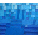 Seenplatte, 100x120 cm, Acryl,Papier,Leinwand, 1999