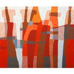 Bindung, 100x120 cm, Acryl,Papier,Leinwand, 2010