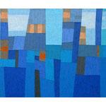 Winterland, 100x130 cm, Acryl,Papier,Leinwand, 2000