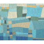 Große Flusslandschaft, 120x150 cm, Acryl,Papier,Leinwand, 2012
