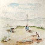 Am See, 2007, 30 x 30 cm ( oh. Passepartout), 80,00 €