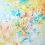 かぜひかる 油彩、キャンバス 15×15cm