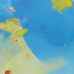 水辺のかたち 13-3 アクリル・油彩・キャンバス 130×162cm 2013(第31回上野の森美術館大賞展 入選)