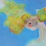 砂場あそび P8号   45.5×33.3cm アクリル・油彩・キャンバス