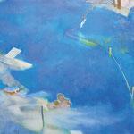 水辺のかたち11-2 アクリル、油彩、キャンバス 112×145.5cm   2011(シェル美術賞2011 入選)