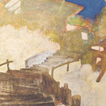 空へ アクリル、油彩、綿布、パネル 72.8×51.5cm   2010