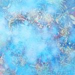 そらのかけら-3 油彩、キャンバス 15×15cm