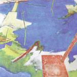 水辺のかたち10-1 アクリル、油彩、綿布、パネル 162×162cm   2010(第31回上野の森美術館大賞展 賞候補)