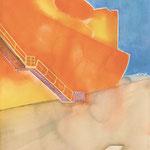 しらせ 水彩、アクリル、紙 38×27cm   2010
