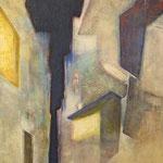 夜景 アクリル、油彩、綿布、パネル 53×33cm   2009