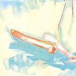 水辺のかたち 水彩、アクリル、紙 38×27cm   2010
