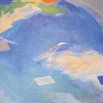 水辺のかたち12-1 アクリル、油彩、パネル 162×162cm   2012(第7回はるひ絵画トリエンナーレ 入選)