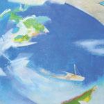 水辺のかたち12-2 アクリル、油彩、キャンバス 116.7×116.7cm   2012