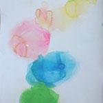 みずたまり-1 水彩、アクリル、紙 2012