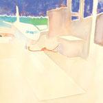 飛行場 水彩、アクリル、紙 38×27cm   2010