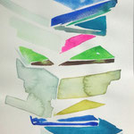 books-1 水彩、アクリル、紙 27.5×14.5cm 2010