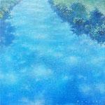 そらをうつす-17 15×15cm 油彩、キャンバス