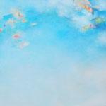 blue park 116.7×116.7cm   アクリル、油彩、キャンバス