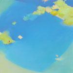 フィールドアスレチック S50号   116.7×116.7cm アクリル・油彩・キャンバス