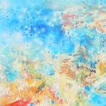 気層ー色層Ⅰ 油彩、キャンバス 60.6×218cm