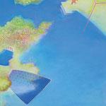 空と田んぼ P8号  45.5×33.3cm アクリル・油彩・キャンバス