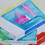 books-2 水彩、アクリル、紙 27.5×14.5cm 2010