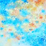 気層ー色層Ⅱ 油彩、キャンバス F25号